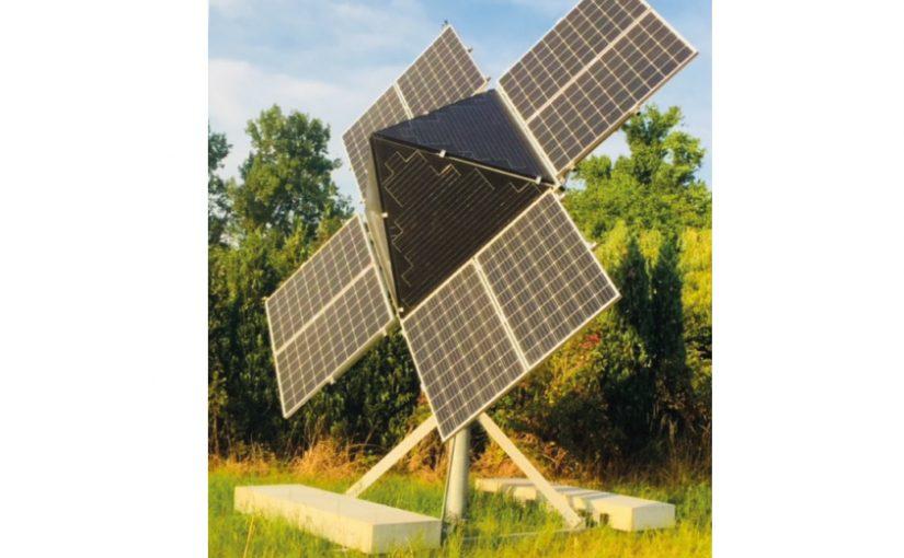 Kompakt und flexibel: Der Solartrichter ist modular aufgebaut und kann schnell zu dem gewünschten Einsatzort transportiert werden. - Foto: GLOBAL SOLAR SYSTEMS