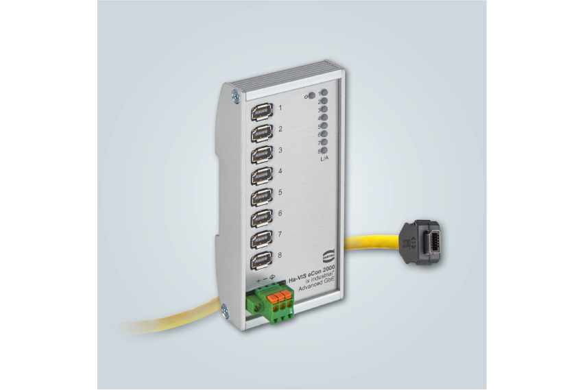 HARTING Ha-VIS eCon 2080GX-I-A: Kompakter und effizienter Full Gigabit Ethernet Switch mit ix Industrial® Interface. - Foto: HARTING