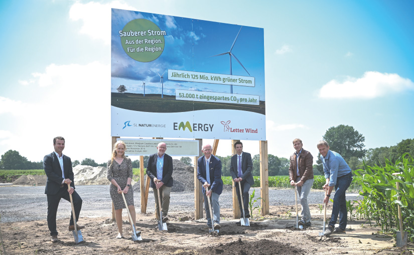 Spatenstich für den Windpark Letter Bruch - Foto: Emergy