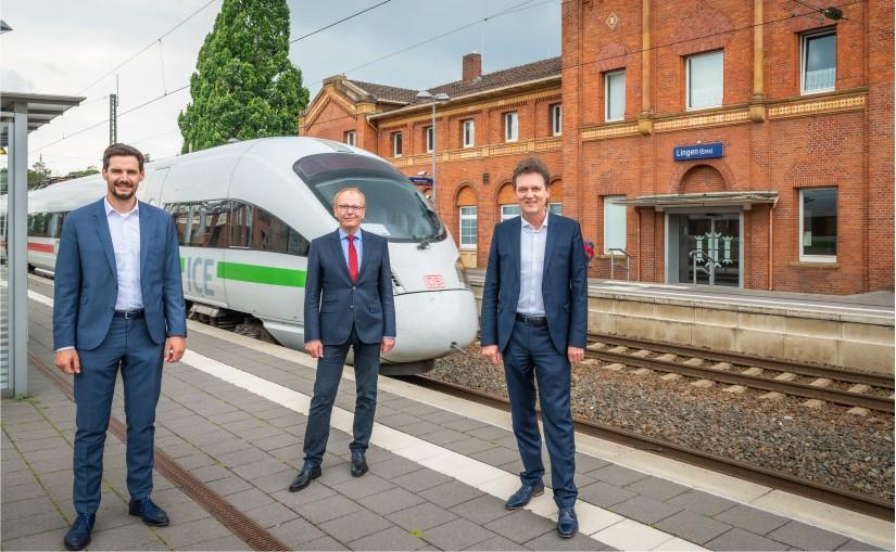 ICE hält bis Ende September in Lingen: München – Norddeich Mole direkt