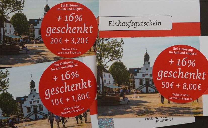 Lingener Einkaufssommer: erfolgreicher Start. - Bild: Stadt Lingen