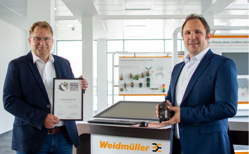 Weidmüller mit German Innovation Award 2020 ausgezeichnet