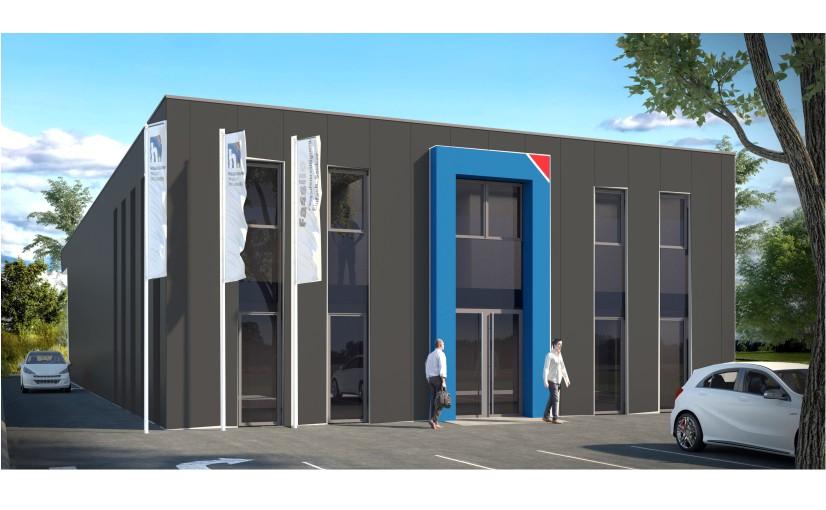 So könnte der neue Firmensitz der Firma Heßbrüggen an der Kopenhagener Straße aussehen. Fotoquelle: Architekturbüro Gellenbeck