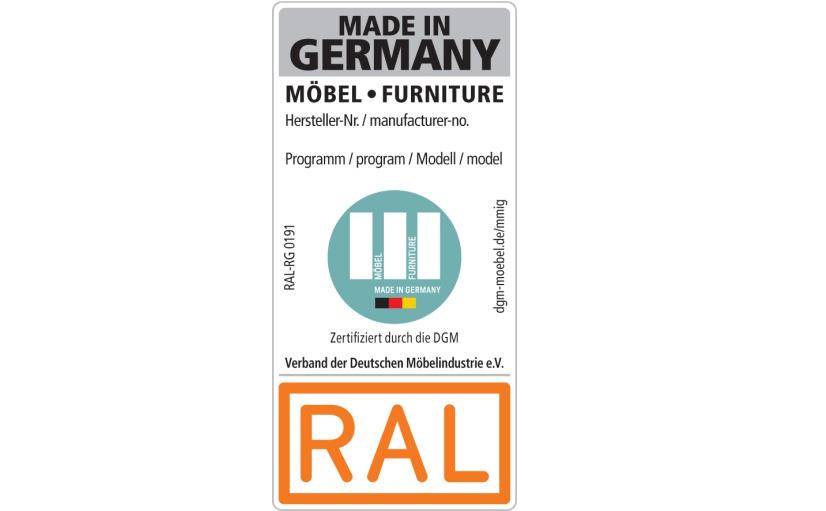 """Das geographische Herkunftsgewährzeichen """"Möbel Made in Germany""""."""
