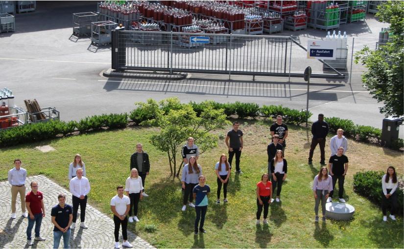 Bei der Westfalen Gruppe starteten 23 Auszubildende. (Foto: Westfalen AG, Münster)