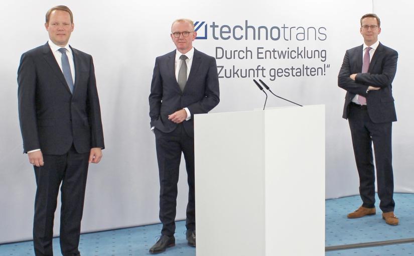 Der technotrans Vorstand: (von links nach rechts) Peter Hirsch, Michael Finger, Dirk Engel