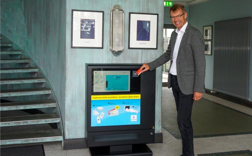 HARTING: Hygieneautomat für den Empfangsbereich in Unternehmen