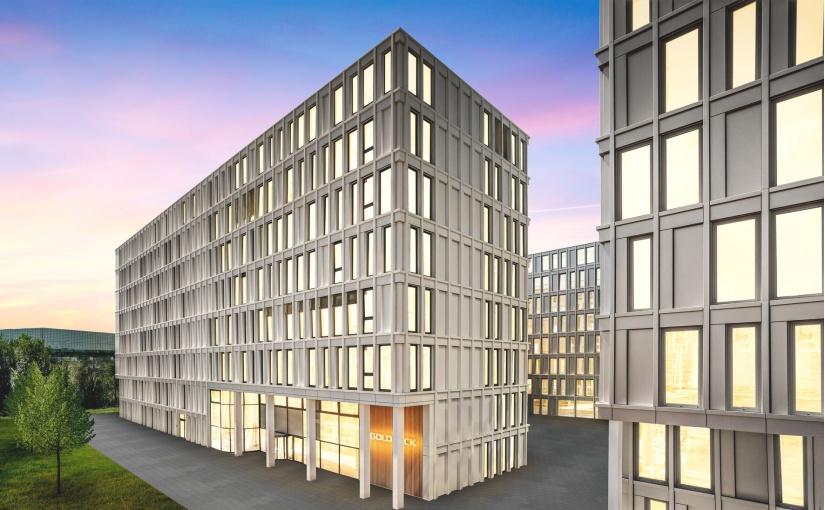 Goldbeck-Bürogebäude, Gateway Gardens, Frankfurt. - Foto: Goldbeck
