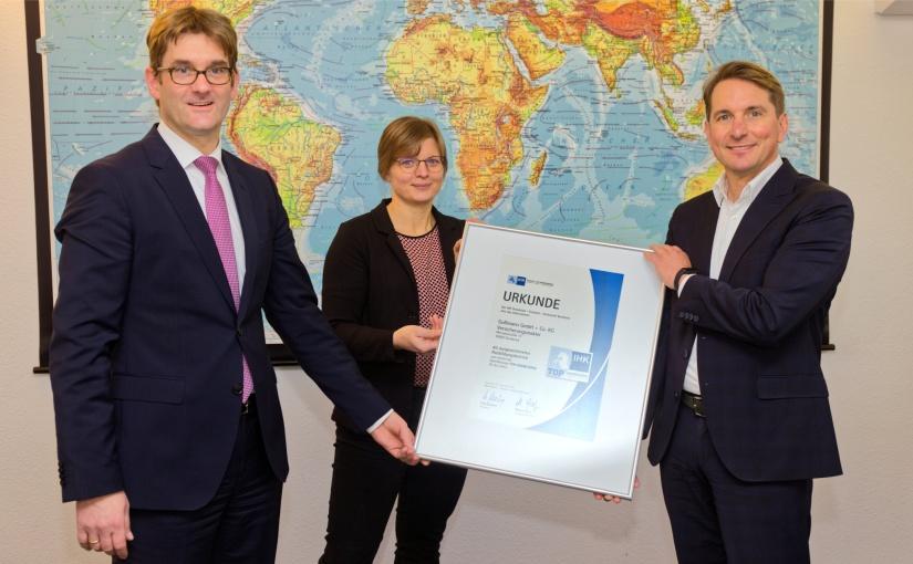 """IHK-Qualitätssiegel """"TOP AUSBILDUNG"""" erneut an Gußmann GmbH + Co. KG"""