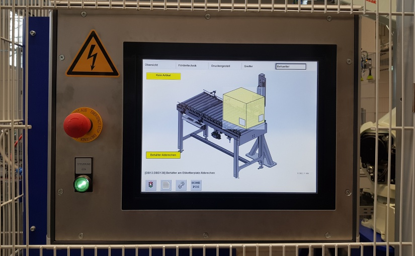 Die Etikettierzelle wird über ein Touchpanel gesteuert. -Foto: de Man