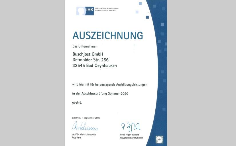 IHK Urkunde Sommer 2020