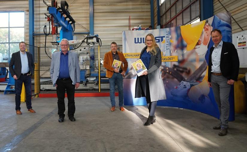 Landrätin Anna Kebschull besucht Wurst Stahlbau GmbH in Bersenbrück