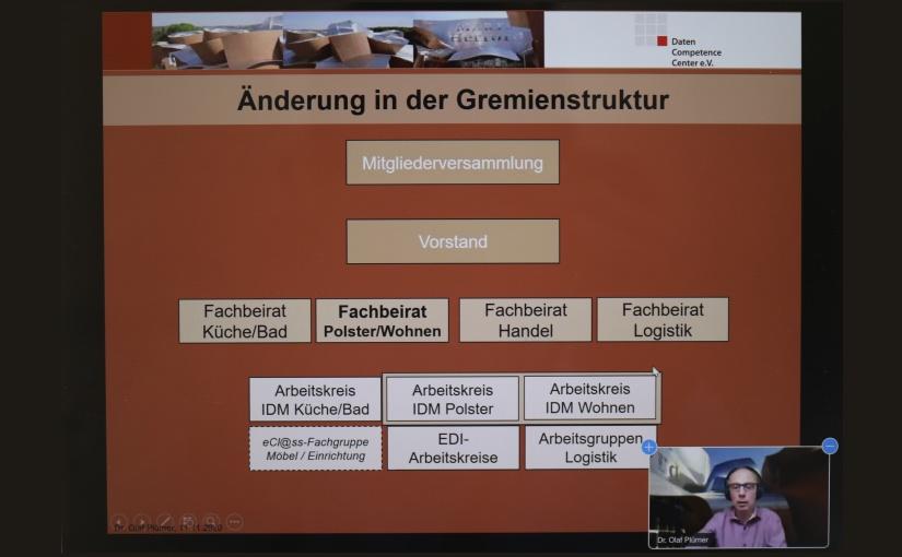 Eine der herausfordernden Aufgaben für das DCC wird der beabsichtigte Zusammenschluss der Bereiche und IDM-Formate von Polster und Wohnen, wie Geschäftsführer Dr. Olaf Plümer in seinem Bericht auf der Mitgliederversammlung 2020 betonte. - Abbildung: DCC e.V.
