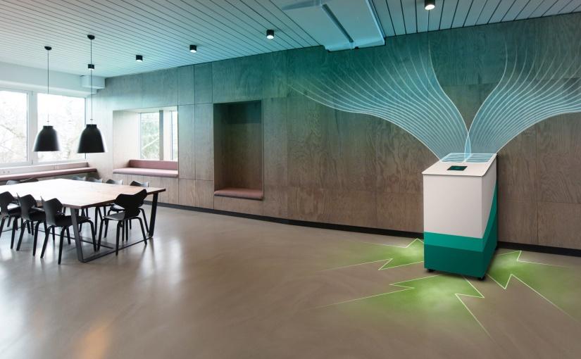 Der innovative insensiv Lufreiniger mit einzigartigen Automatikfunktionen senkt die Konzentration von Corona-Viren auch in großen Räumen, Foto: insensiv GmbH