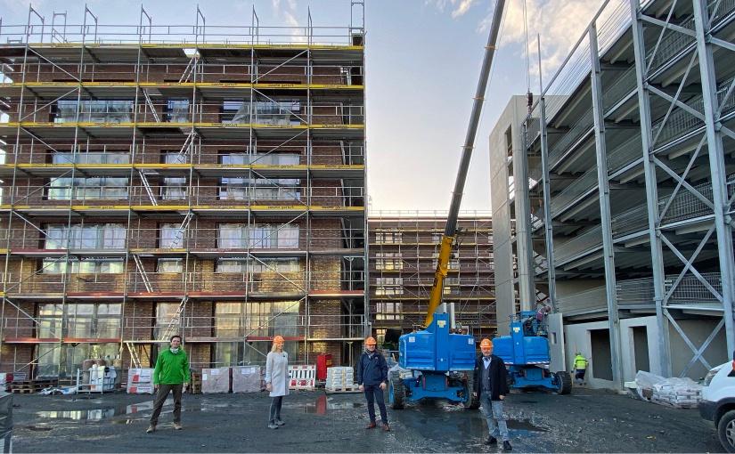 Loddenheide: Guter Baufortschritt  bei gestiegener Büroflächen-Nachfrage
