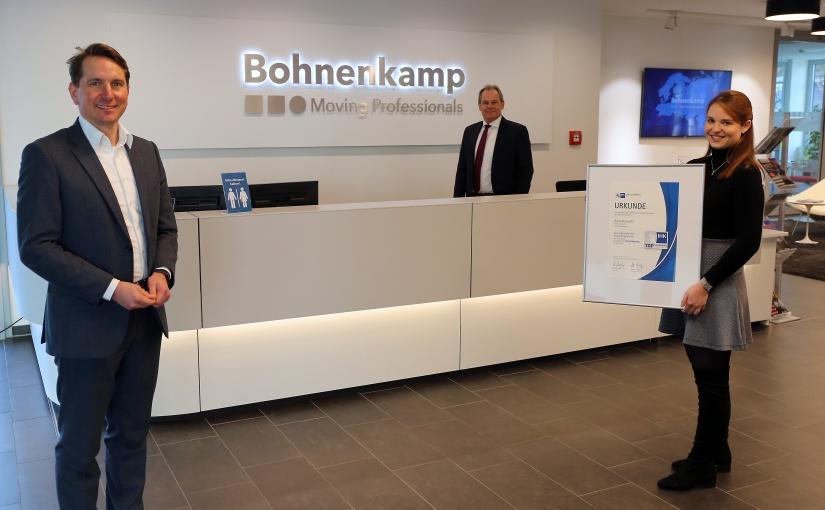 "IHK verleiht Qualitätssiegel ""TOP AUSBILDUNG"" erneut an Bohnenkamp AG"