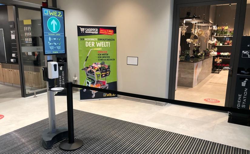 BERNSTEIN entwickelt Hygienestation mit Möglichkeit zur Kundenzählung