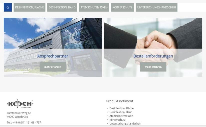 Logistik und Webshop: Koch International unterstützt Region Osnabrück