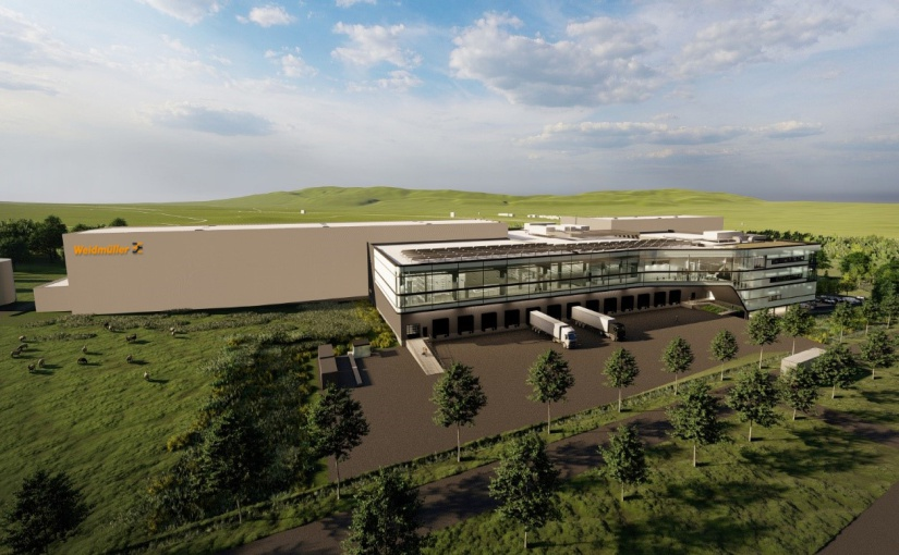Visualisierung des neuen Weidmüller Logistikzentrums in Thüringen.- Bild: Weidmüller