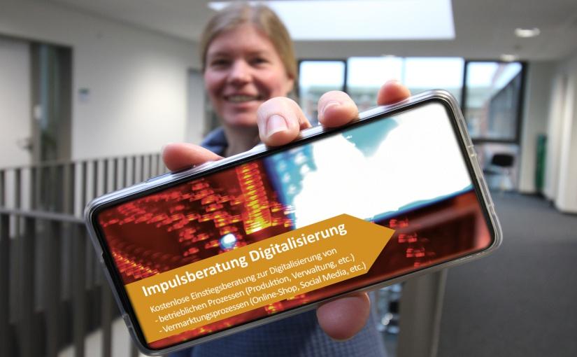 Die kostenfreie Impulsberatung Digitalisierung ist aus Sicht von Andrea Frosch vom UnternehmensService der WIGOS eine echte Chance für Unternehmen. - Foto: WIGOS / Eckhard Wiebrock