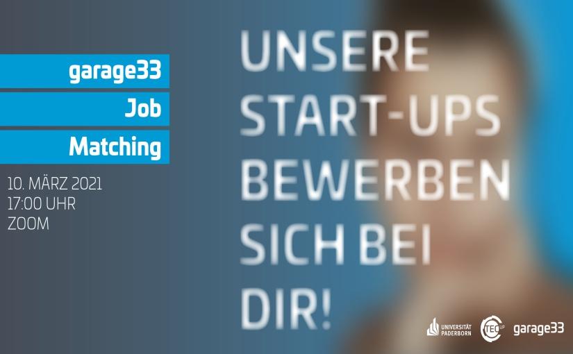 Es ist das erste Mal, dass das TecUP ein digitales Job-Matching initiiert und damit Start-ups aus OWL mit potentiellen Mitarbeitenden zusammenbringt. - Grafik: Universität Paderborn