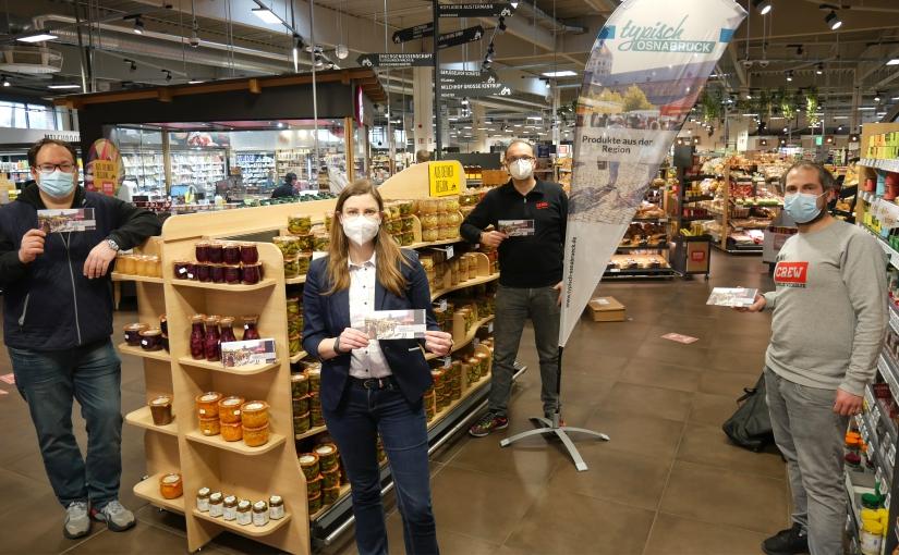 """Kampagne """"Typisch Osnabrück"""" hält Einzug in Supermärkten"""
