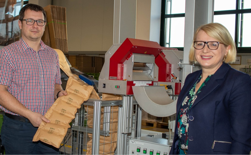 WAGO: 100% biologisch abbaubare Papierluftpolster ersetzen Kunststoff