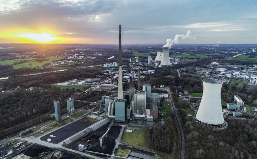 Luftbild des ehemaligen Steag-Kraftwerks vom Januar 2020. - Foto: Hagedorn