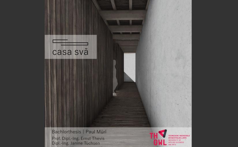 Paul Mürls Thesis widmet sich der Erweiterung eines Yoga-Zentrums in Portugal. - Visualisierung: Paul Mürls
