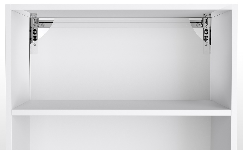 So bekommt der Schrank auch optisch beste Haltungsnoten: Die soliden Schrankaufhänger SAH 216 mit präziser 3D-Verstellung verschwinden unsichtbar hinter der Rückwand. – Foto: Hettich