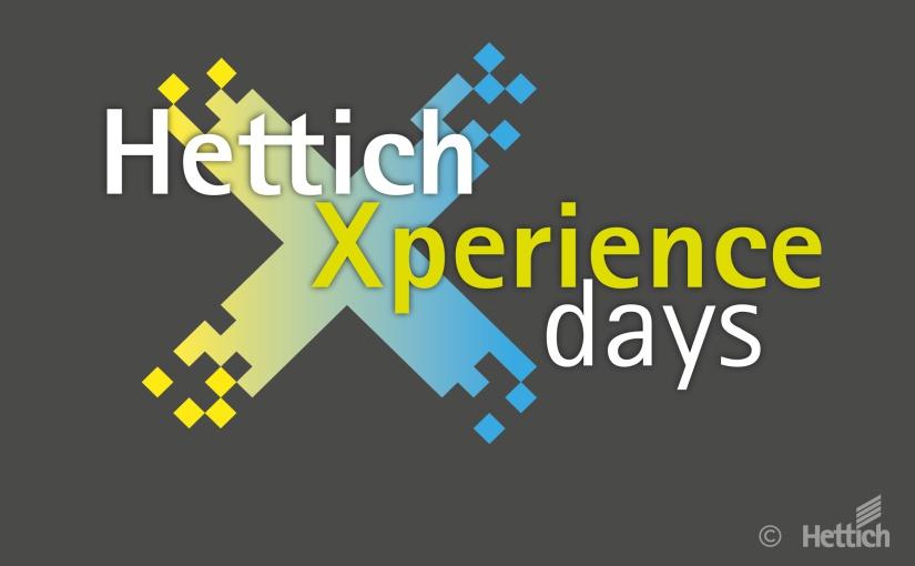 """Der Countdown läuft: Mitte März startet Hettich weltweit erstmals die """"HettichXperiencedays 2021"""" als hybrides Mega-Event. - Logo: Hettich"""