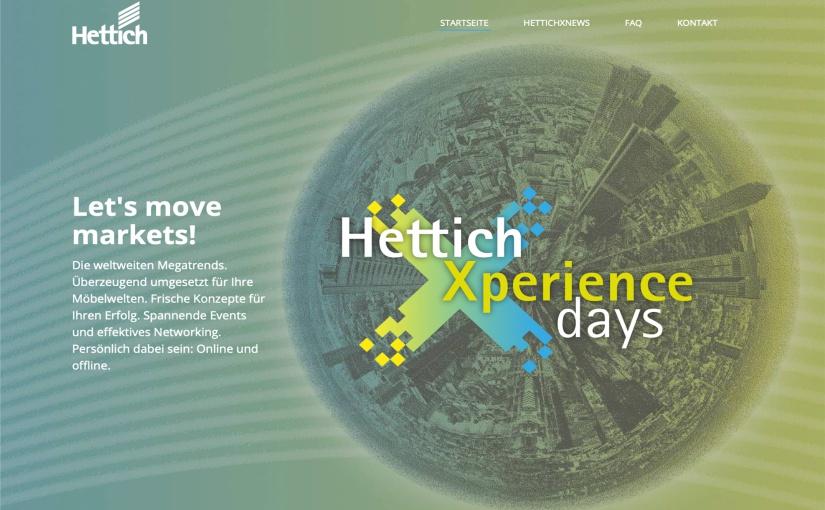 Registrieren lohnt sich: Das Webportal xdays.hettich.com bietet den angemeldeten Fachbesuchern eine Vielzahl an Informationen, Services und ermöglicht ebenso die Teilnahme an Live-Events der HettichXperiencedays. -Foto: Hettich