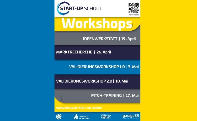 """""""TecUP Start-up School"""" startet wieder im April: Anmeldungen ab sofort"""