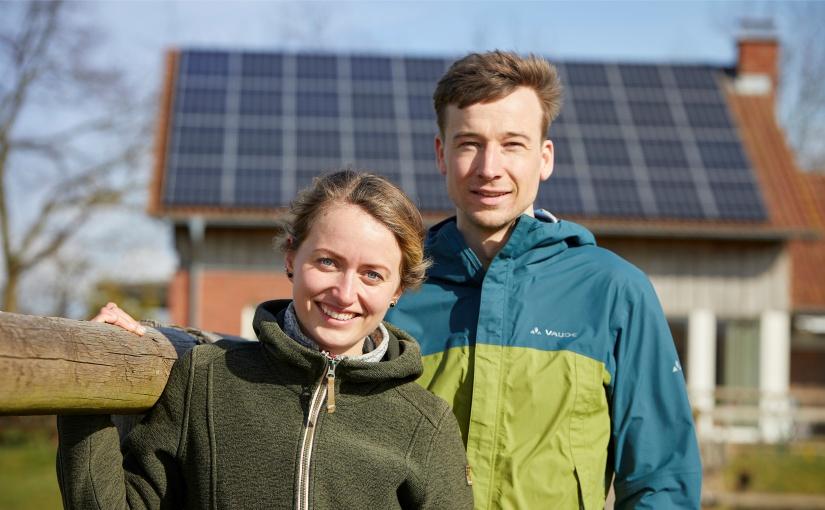 Sophie und Sebastian aus Dülmen engagieren sich privat und beruflich für den Klimaschutz im Münsterland. - Foto: © Münsterland e.V./Philipp Fölting