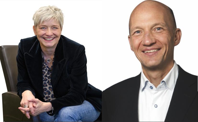 Monika Bone (links) erklärt, wie der Unternehmenserfolg von der Kommunikation abhängig ist. - Foto: © Bone. - Ralf Swetlik (Rechts) ist ein externer Nachfolger und leitet das Druckhaus Dülmen. - Foto: © Swetlik