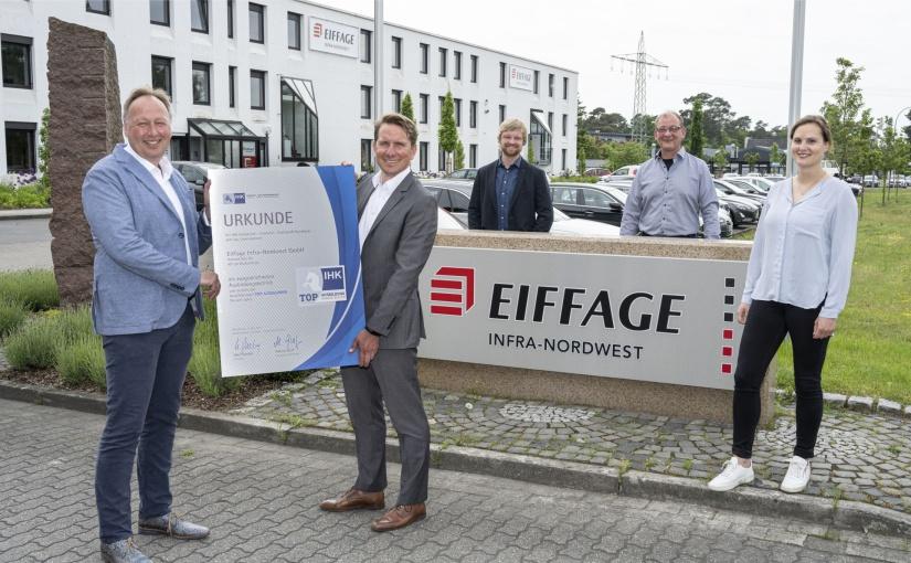 TOP AUSBILDUNG: IHK verleiht Qualitätssiegel an Eiffage Infra-Nordwest