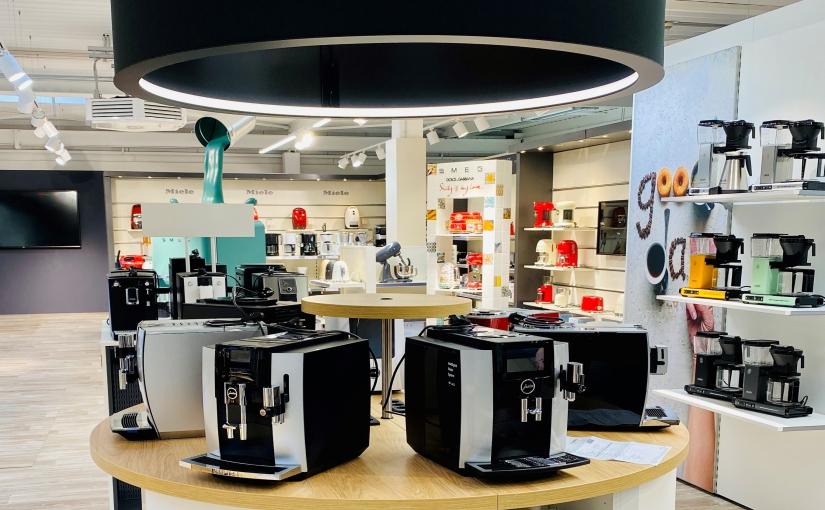 Premium Kaffee-Präsentation auf der Mustershop Fläche in Bielefeld. - Foto: EK/servicegroup