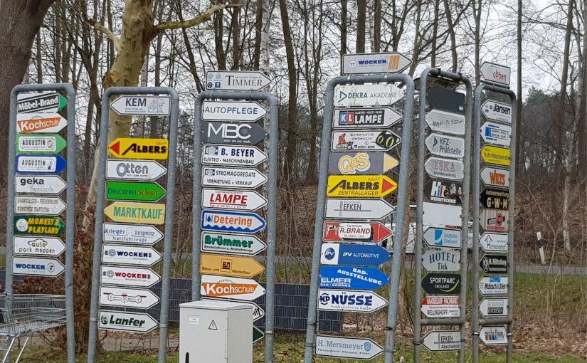 Neues Firmen-Leitsystem im Gewerbegebiet Meppen-Nödike