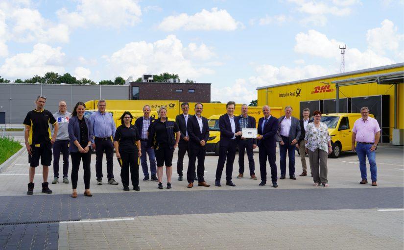Neuer Zustellstützpunkt der Deutschen Post DHL im Gewerbegebiet Lingen-Nord
