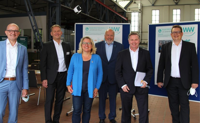 Bundesumweltministerin informiert sich über Wasserstoffprojekte bei Westfalen Weser in Kirchlengern